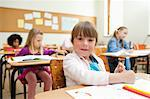 Girl drawing during class Stock Photo - Premium Royalty-Free, Artist: Jason Friend, Code: 6109-06196524