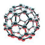 Buckminsterfullerene, computer artwork. Stock Photo - Premium Royalty-Free, Artist: Science Faction, Code: 679-06198317