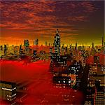 Alien city, computer artwork. Stock Photo - Premium Royalty-Free, Artist: Beyond Fotomedia, Code: 679-06198344
