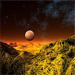 Alien planet, computer artwork. Stock Photo - Premium Royalty-Free, Artist: Ascent Xmedia, Code: 679-06198359