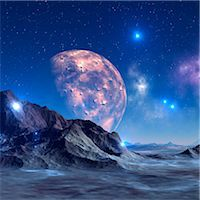 space - Alien planet, computer artwork. Stock Photo - Premium Royalty-Freenull, Code: 679-06198370