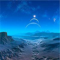 Alien planet, computer artwork. Stock Photo - Premium Royalty-Freenull, Code: 679-06198376