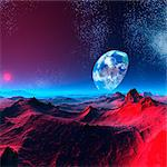 Earth-like alien planet, computer artwork. Stock Photo - Premium Royalty-Free, Artist: Ascent Xmedia, Code: 679-06198380