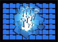 Computer hacking, conceptual computer artwork. Stock Photo - Premium Royalty-Freenull, Code: 679-06198441