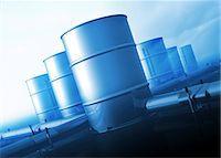 pipework - Oil distribution, conceptual computer artwork. Stock Photo - Premium Royalty-Freenull, Code: 679-06198688