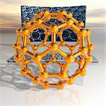 Nanotechnology research, conceptual computer artwork.. Stock Photo - Premium Royalty-Free, Artist: Cultura RM, Code: 679-06199001