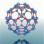 Super buckyball molecule, computer artwork. Stock Photo - Premium Royalty-Free, Artist: Photocuisine, Code: 679-06199007