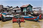 Floating Village and Fishing Boats Stock Photo - Premium Rights-Managed, Artist: oliv, Code: 700-06199251