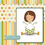 new baby girl announcement card Stock Photo - Royalty-Free, Artist: balasoiu                      , Code: 400-06199372