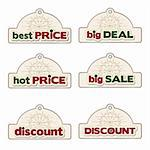 promotional labels set Stock Photo - Royalty-Free, Artist: balasoiu                      , Code: 400-06199399