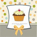 birthday card with cupcake Stock Photo - Royalty-Free, Artist: balasoiu                      , Code: 400-06199656