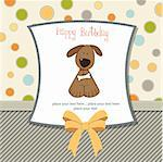 birthday card with dog Stock Photo - Royalty-Free, Artist: balasoiu                      , Code: 400-06199675