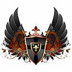 ornamental shield,  this illustration may be useful as designer work Stock Photo - Royalty-Free, Artist: kjolak                        , Code: 400-06199810