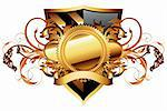 ornamental shield,  this illustration may be useful as designer work Stock Photo - Royalty-Free, Artist: kjolak                        , Code: 400-06199812