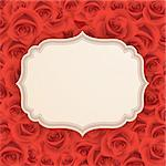 Greeting card with roses and place for text. Stock Photo - Royalty-Free, Artist: avian                         , Code: 400-06199824