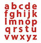 Red Roses font abc lowercase letters. Check my portfolio for roses numbers and uppercase letters Stock Photo - Royalty-Free, Artist: avian                         , Code: 400-06199880