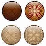 Vector - Glass Circle Button Basque Textures Stock Photo - Royalty-Free, Artist: gubh83                        , Code: 400-06200165