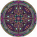 vector illustration of oriental mandala Stock Photo - Royalty-Free, Artist: Tatiana_Ti                    , Code: 400-06200333