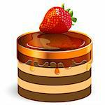 illustration, red strawberry on cake under fluid caramel Stock Photo - Royalty-Free, Artist: Brux                          , Code: 400-06200803
