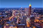 Skyline of downtown Atlanta, Georgia, USA Stock Photo - Royalty-Free, Artist: sepavo                        , Code: 400-06202739