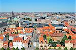 Copenhagen, Denmark.  Bird's eye view of the city Stock Photo - Royalty-Free, Artist: TatyanaSavvateeva             , Code: 400-06205723