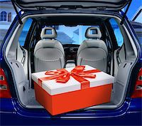 a fancy box in the passenger compartment of car Stock Photo - Royalty-Freenull, Code: 400-06205932