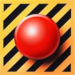 Empty or blank button in red on yellow and black background Stock Photo - Royalty-Free, Artist: babar760                      , Code: 400-06207325