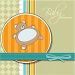 romantic baby shower card Stock Photo - Royalty-Free, Artist: balasoiu                      , Code: 400-06207634