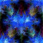 Abstract fractal on black background with vibrant colors. Stock Photo - Royalty-Free, Artist: hlehnerer                     , Code: 400-06208268