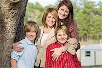 Portrait of Mother with Children Stock Photo - Premium Rights-Managednull, Code: 700-06282096