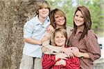 Portrait of Mother with Children Stock Photo - Premium Rights-Managed, Artist: Kevin Dodge, Code: 700-06282097