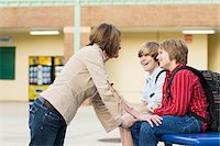 Mother Talking to Two Sons Stock Photo - Premium Rights-Managednull, Code: 700-06282099