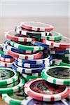 Pile of Poker Chips Stock Photo - Premium Royalty-Free, Artist: photo division, Code: 600-06302274