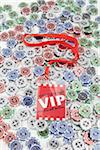 VIP Pass and Poker Chips Stock Photo - Premium Rights-Managed, Artist: photo division, Code: 700-06302300