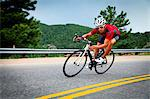Cyclist Rounding a Bend Stock Photo - Premium Rights-Managed, Artist: ableimages, Code: 822-06302347