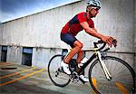 Cyclist Riding Bike Stock Photo - Premium Rights-Managed, Artist: ableimages, Code: 822-06302415