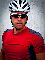 Portrait of Cyclist Stock Photo - Premium Rights-Managednull, Code: 822-06302433