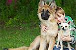 Boy Hugging Two Dogs Stock Photo - Premium Rights-Managed, Artist: ableimages, Code: 822-06302481