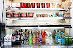 Shop Refrigerator Shelves Stacked with Food Containers and Soft Drink Bottles Stock Photo - Premium Rights-Managed, Artist: ableimages, Code: 822-06302515