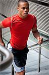 Man Running up Steps Stock Photo - Premium Rights-Managed, Artist: ableimages, Code: 822-06302586
