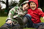 Two Boys Laughing Outdoors Stock Photo - Premium Rights-Managed, Artist: ableimages, Code: 822-06302607