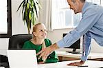 Business people talking in office Stock Photo - Premium Royalty-Free, Artist: CulturaRM, Code: 649-06305245