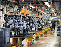 Workers on engine production line in car factory Stock Photo - Premium Royalty-Freenull, Code: 649-06305634