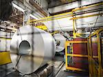 Steel rolls in car factory Stock Photo - Premium Royalty-Free, Artist: Blend Images, Code: 649-06305676
