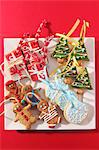 Various Christmas biscuits to hang on the Christmas tree Stock Photo - Premium Royalty-Freenull, Code: 659-06306470