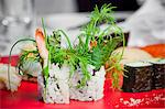 Fresh herbs on a sushi platter Stock Photo - Premium Royalty-Free, Artist: Cultura RM, Code: 659-06306782