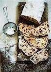 Christmas stollen, sliced, seen from above Stock Photo - Premium Royalty-Free, Artist: foodanddrinkphotos, Code: 659-06306928