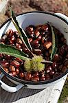 Fresh chestnuts in an enamel pot Stock Photo - Premium Royalty-Free, Artist: Science Faction, Code: 659-06307253