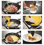 Steps for Making a Denver Omelet Stock Photo - Premium Royalty-Free, Artist: Photocuisine, Code: 659-06307463