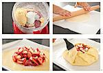 Steps for Making a Berry Tart Stock Photo - Premium Royalty-Free, Artist: Photocuisine, Code: 659-06307469